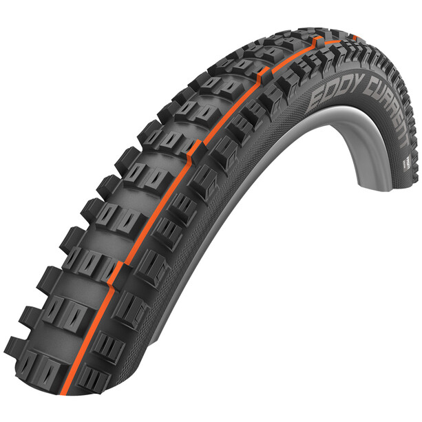 "SCHWALBE Eddy Current Rear Super Trail Evolution Folding Tyre 27.5x2.80"" TLE E-50 Addix Soft svart"