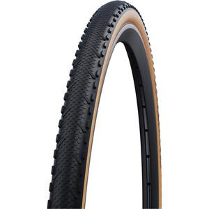 "SCHWALBE X-One Speed Performance Folding Tyre 28x1.30"" RaceGuard TLE Addix svart/beige svart/beige"