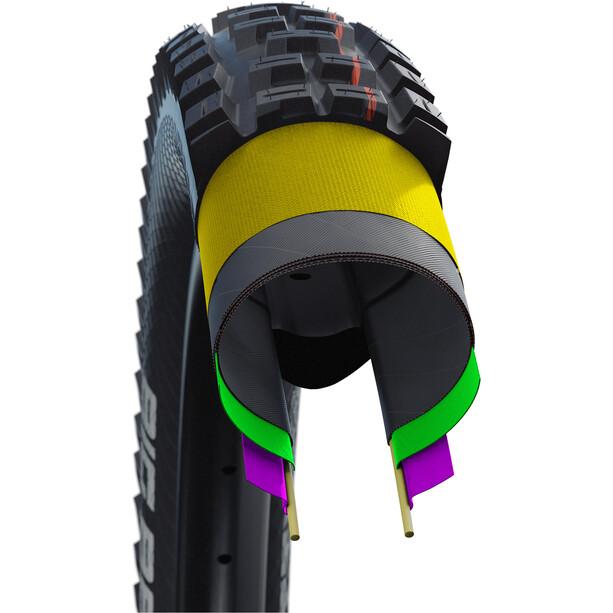 """SCHWALBE Rock Razor Super Gravity Evolution Faltreifen 27.5x2.35"""" TLE E-25 Addix Soft black"""