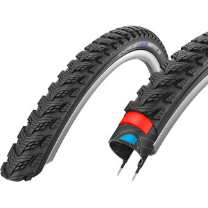 "SCHWALBE Marathon GT 365 Performance Clincher Rengas 20x2.15"" DualGuard E-50 Reflex, musta musta"