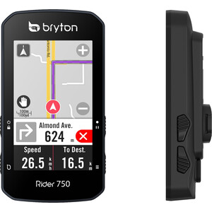 Bryton Rider 750 T Bike Computer with Speed Sensor/Candence Sensor/Heart Rate Monitor/Mount