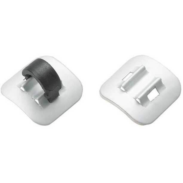 Jagwire Cable Guides Alu 4 Pieces, argent