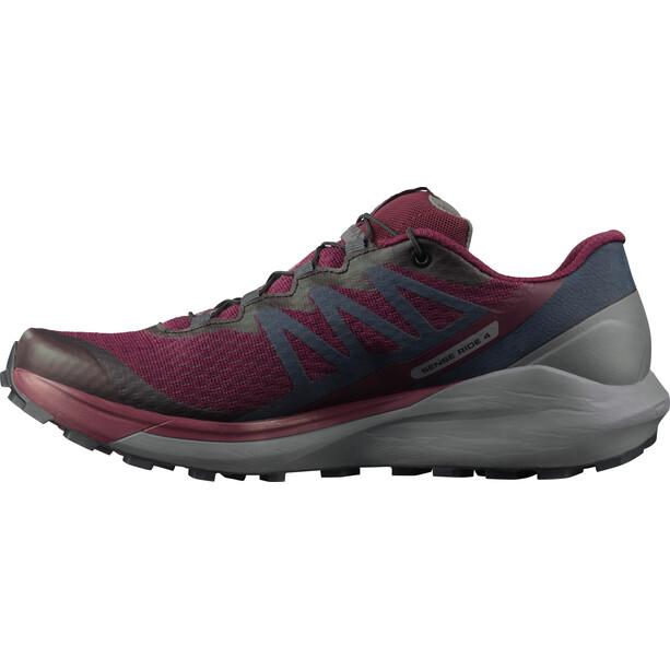 Salomon Sense Ride 4 Shoes Women, rouge/gris