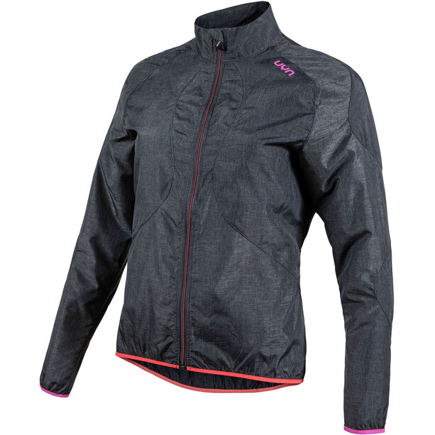 UYN Biking Activyon OW Melange Windjacke Damen anthracite melange/rose violet/hibiscus