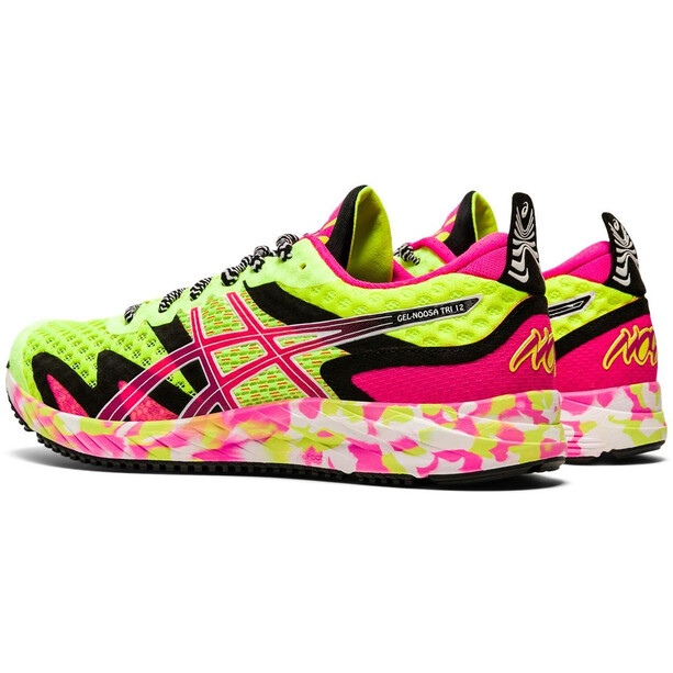 asics Gel-Noosa Tri 12 Schuhe Damen safety yellow/pink glo safety yellow/pink glo