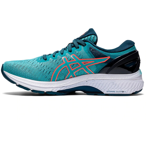 asics Gel-Kayano 27 Schuhe Damen techno cyan/sunrise red