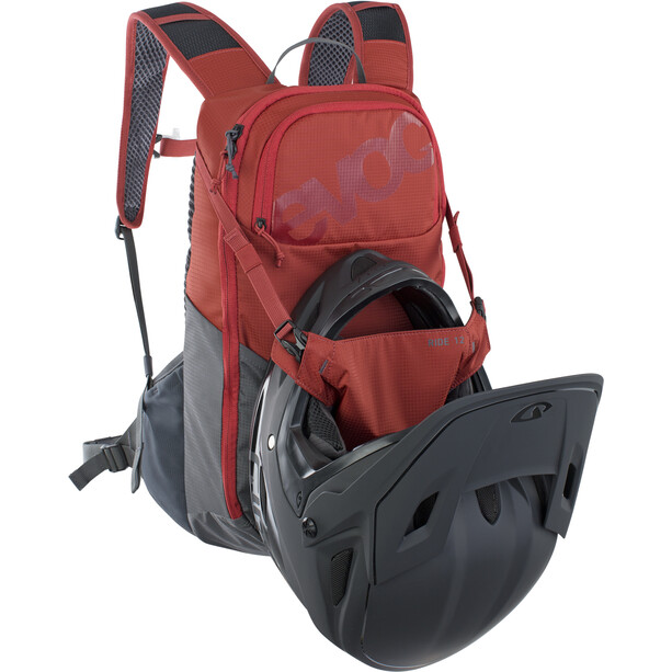 EVOC Ride 12 Rucksack rot/grau