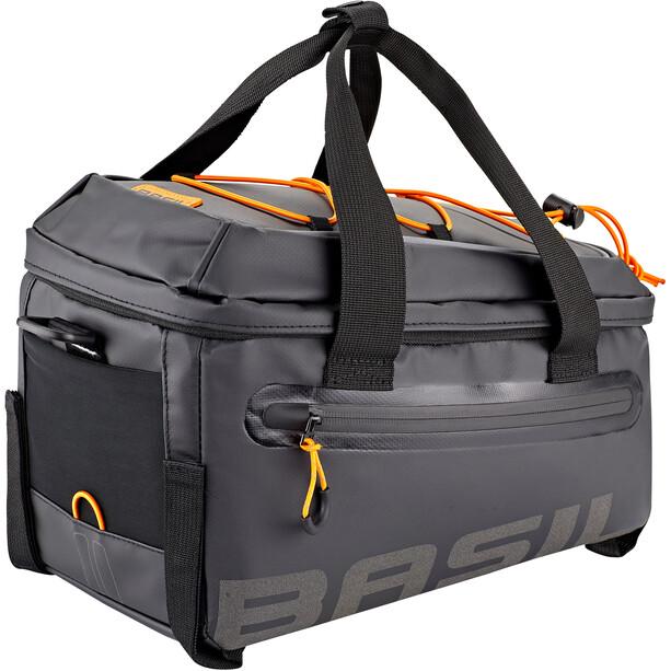 Basil Miles Tarpaulin Gepäckträgertasche 7l schwarz/orange
