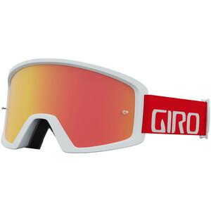 Giro Blok Gafas MTB, blanco/rojo blanco/rojo