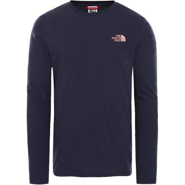 The North Face Easy LS Tee Men aviator navy/pink clay