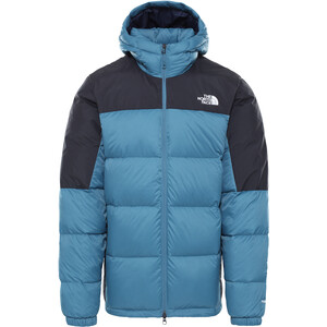 The North Face Diablo Down Hoodie Men mallard blue/TNF black mallard blue/TNF black