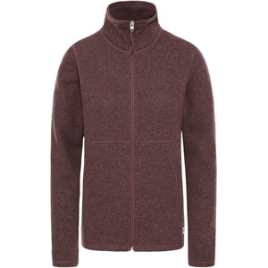 The North Face Crescent Full Zip Jacket Women marron purple black heather marron purple black heather