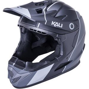 Kali Zoka Stripe Helm Jugend schwarz/grau schwarz/grau