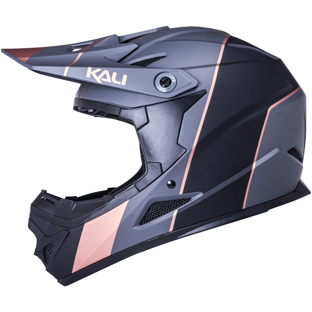Kali Zoka Stripe Helmet Youth, matt black/bronze