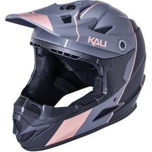 Kali Zoka Stripe Helm Jugend schwarz/braun schwarz/braun