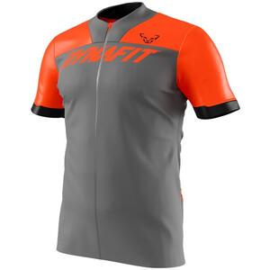 Dynafit Ride Shirt met Korte Mouwen en Rits Heren, grijs/oranje grijs/oranje