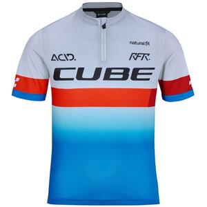 Cube Junior Teamline SS Jersey Kids, niebieski/biały niebieski/biały