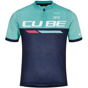 Cube Junior Teamline SS Jersey Kids, blauw/turquoise blauw/turquoise