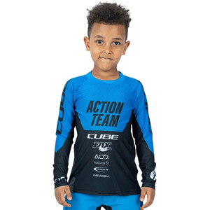 Cube Junior X Actionteam LS Jersey Kids blå/svart blå/svart