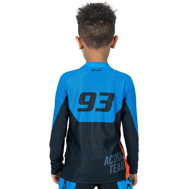 Cube Junior X Actionteam Langarm Trikot Kinder black´n´blue