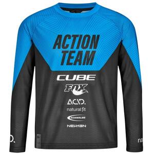 Cube Junior X Actionteam LS trøje Børn, sort/blå sort/blå