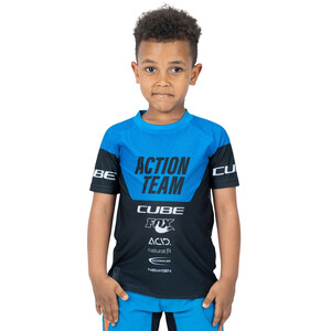 Cube Junior X Actionteam SS Jersey Kids blå/svart blå/svart