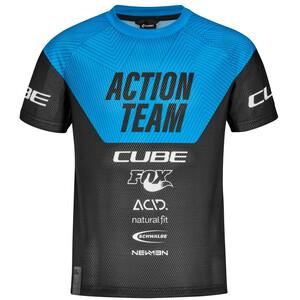 Cube Junior X Actionteam SS Trøje Børn, sort/blå sort/blå
