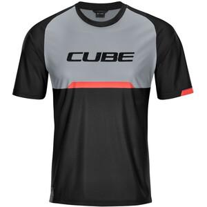 Cube Edge Maillot manches courtes à col rond Homme, noir/gris noir/gris