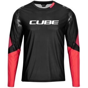 Cube Edge Pyöreäkaukuksinen Jersey Pitkähihainen Miehet, musta musta