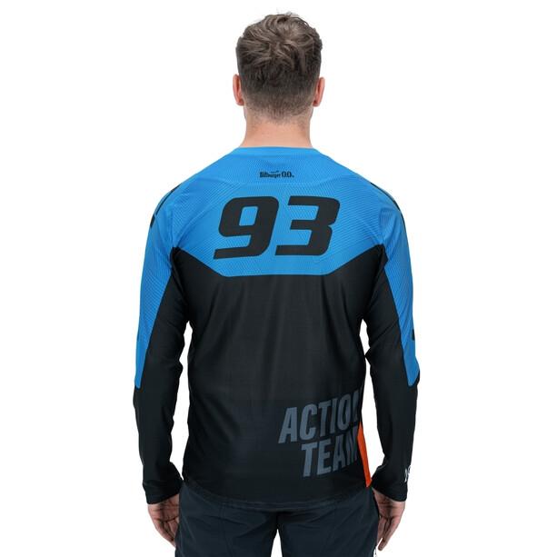 Cube Edge X Actionteam Rundhalstrikot Langarm Herren schwarz/blau