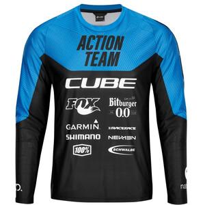 Cube Edge X Actionteam Rundhalstrikot Langarm Herren schwarz/blau schwarz/blau