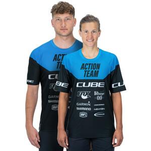 Cube Edge X Actionteam Rund hals Jersey Shortsleeve Herrer, blå/sort blå/sort
