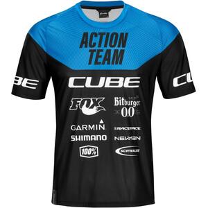 Cube Edge X Actionteam Rund hals Jersey Shortsleeve Herrer, sort/blå sort/blå