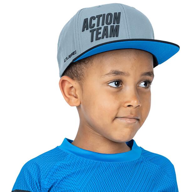 Cube X Actionteam Freeride Kappe Kinder grey´n´black