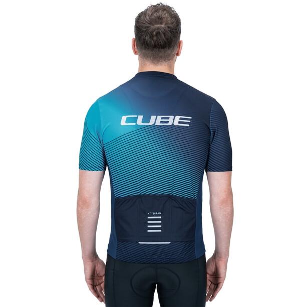 Cube ATX Full Zip SS Jersey Men, bleu