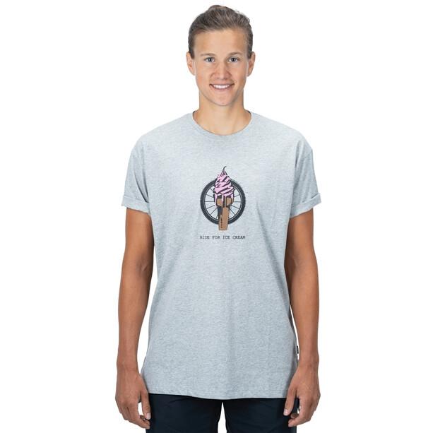 Cube Organic T-Shirt Ice Cream Women, grey