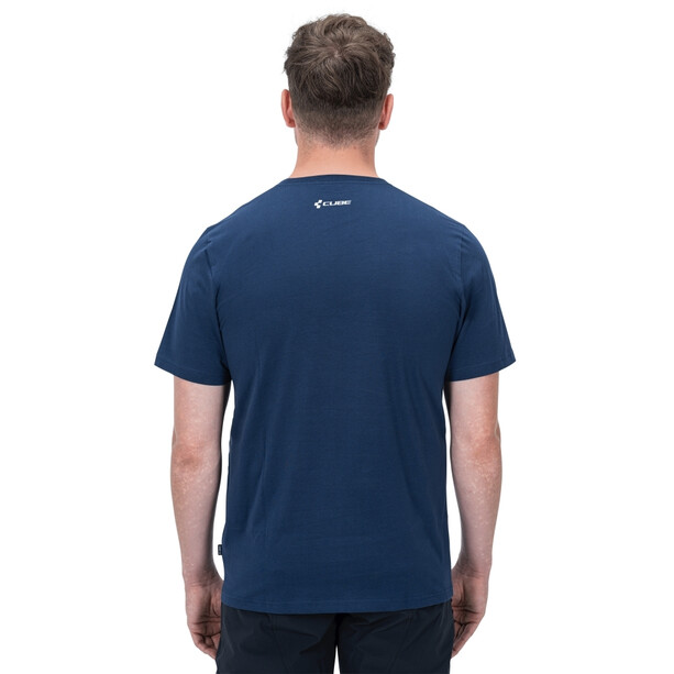 Cube Organic T-Shirt Push & Pull Men, blue