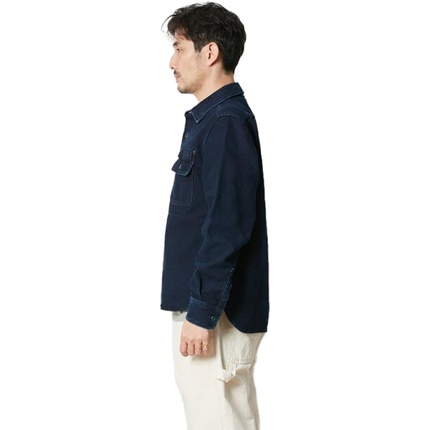 Snow Peak Okayama OX Work Shirt blå