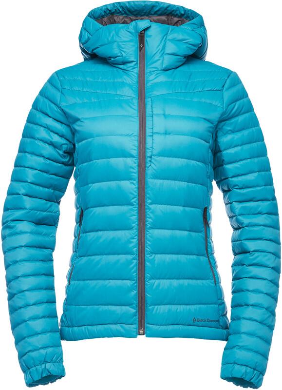 Black Diamond Access Down Hoody Jacket Women aqua verde XL 2020 Vinterjakker og Parkas