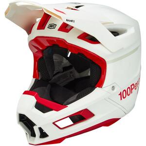 100% Aircraft DH Carbon Hjelm, rød/hvid rød/hvid