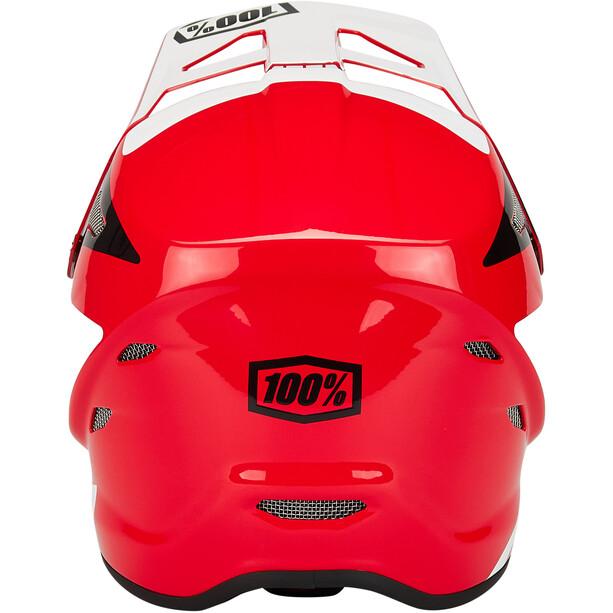 100% Status DH/BMX Casque, rouge/blanc