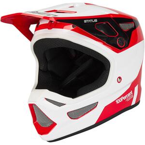 100% Status DH/BMX Helm rot/weiß rot/weiß