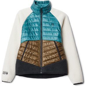 Mountain Hardwear Altius hybridjakke Dame Brun/turkis Brun/turkis