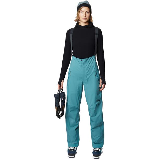 Mountain Hardwear High Exposure Gore-Tex C-Knit Bibs Women washed turq