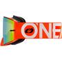 O'Neal B-30 Beskyttelsesbriller, orange/hvid