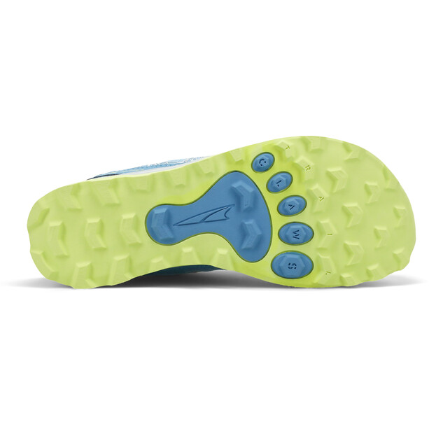 Altra Lone Peak Shoes Youth, blue/lime