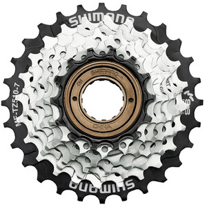Shimano MF-TZ510 Schraubkranz 7-fach brown/black brown/black