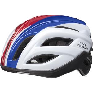KED Gravelon Helmet, blanc/bleu blanc/bleu