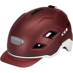 KED Berlin Helmet, rojo/gris rojo/gris