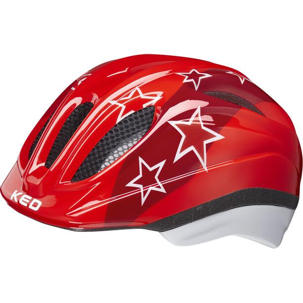 KED Meggy II Helm Kinder red stars